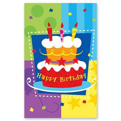 Скатерть п/э Торт Birthday 140х180см 1502-0708
