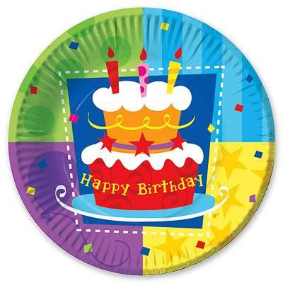 Тарелка бум Торт Birthday 17см 6шт 1502-0710