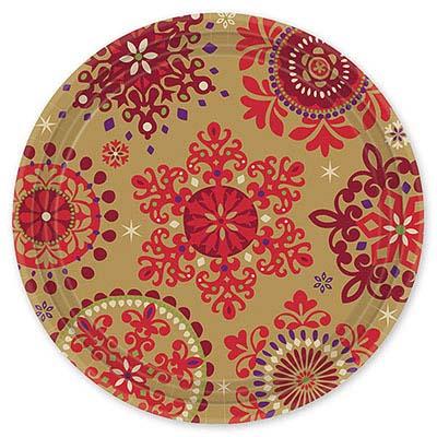 Тарелки Новогодние Узоры, 8 штук 1502-0798