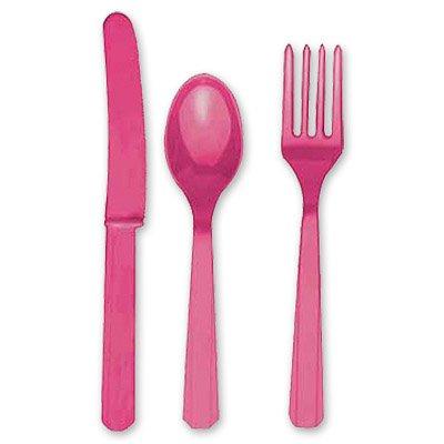 Столовые приборы ярко-розовые, 8 персон 1502-0905