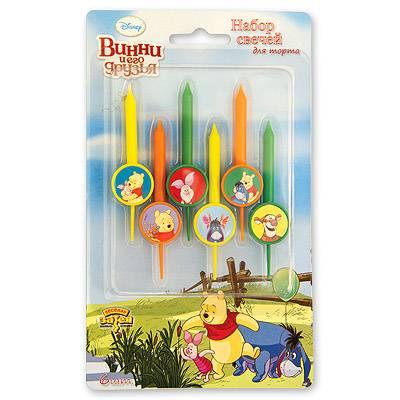 Свечи для торта Disney Винни и друзья,6ш 1502-1043