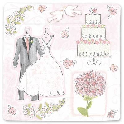 Тарелки Свадьба Романтика, 25 см, 8 штук 1502-1066