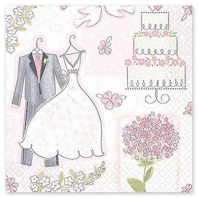 Салфетки Свадьба Романтика, 16 штук 1502-1073