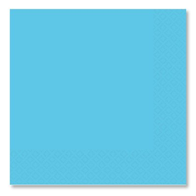 Салфетки голубые Карибы, 33 см, 16 штук 1502-1094