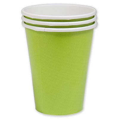 Стакан бумажный зеленый Киви, 8 шт. 1502-1102