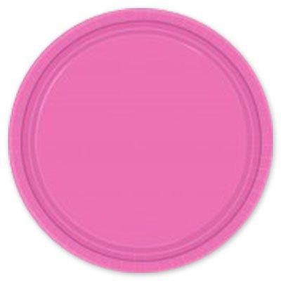Тарелка Ярко-Розовая, 17 см, 8 штук 1502-1106
