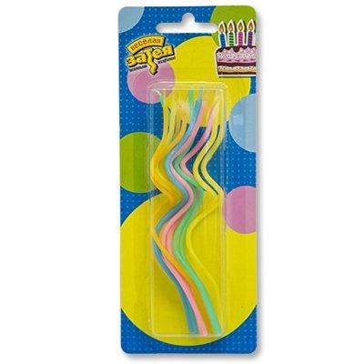 Свечи для торта Спираль 13см 12шт 1502-1159