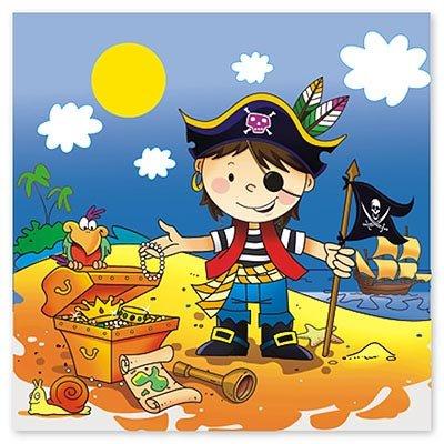 Салфетки Маленький пират, 12 штук 1502-1284