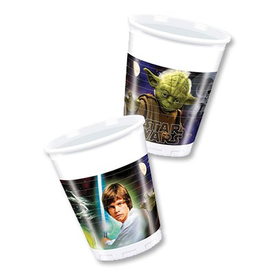 Стаканы пластик Звездные Войны Герои,8шт 1502-1493