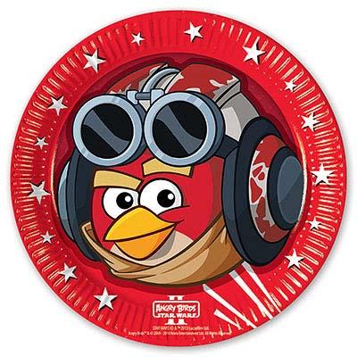 Тарелки Angry Birds STAR WARS, 8 штук 1502-1505