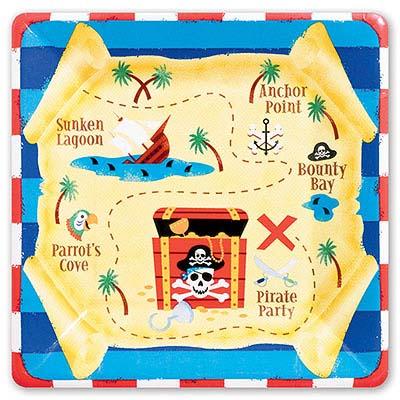 Тарелки большие Сундук Пиратов 1502-1552