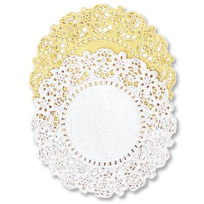 Салфетки ажур Круг золото 11 см, 24 шт 1502-1682