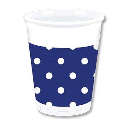Стаканы пластик Горошек синий, 8 штук 1502-1798