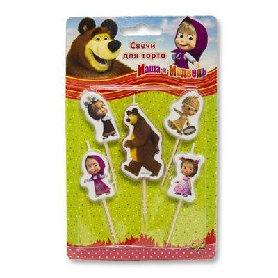 Свечи на пиках Маша и Медведь, 5 штук 1502-1814