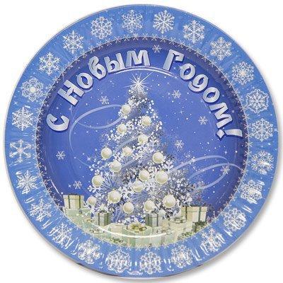 Тарелки большие НГ Зимняя Сказка, 6 штук 1502-1821