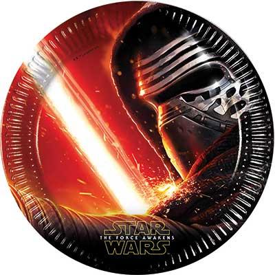 Тарелки большие Звёздные Войны-7, 8 штук