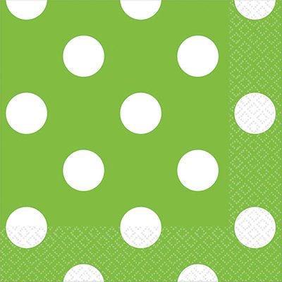 Салфетки Зеленые Киви Горошек, 25 см 1502-1964