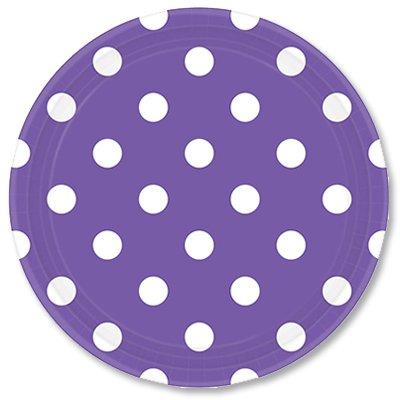 Тарелки фиолетовые Горошек, 23 см