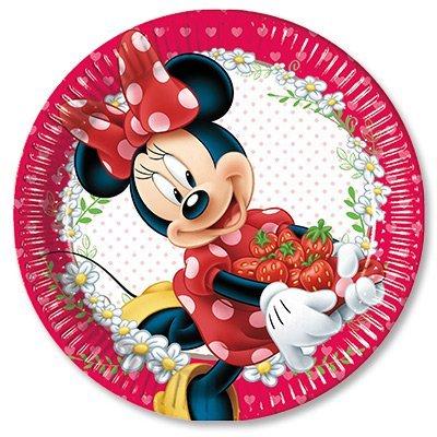 Тарелки Минни в саду, 8 штук 1502-2035