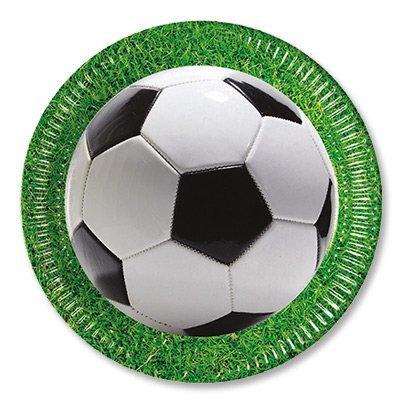 Тарелки Футбол зеленый, газон, 8 штук 1502-2036