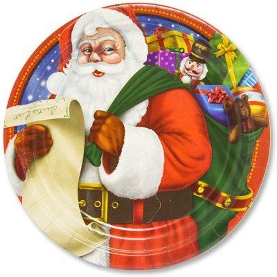 Тарелки большие Санта, 8 штук 1502-2063