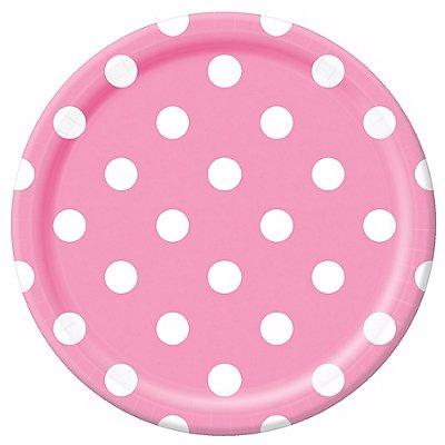 Тарелки New Pink горошек 23см, 8 штук 1502-2366