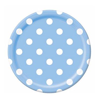 Тарелки Голубая Пастель Горошек 23 см 1502-2368