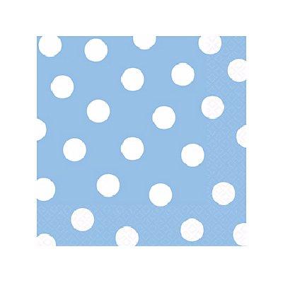 Салфетки Голубая Пастель Горошек 25 см 1502-2375