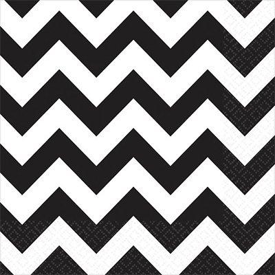 Салфетки черные Шеврон, 25 см 1502-2378