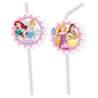 Трубочки для коктейля Принцессы Герои