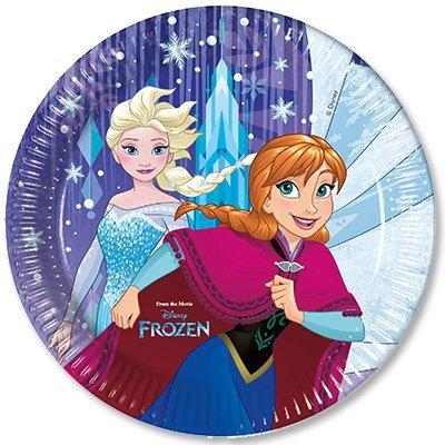 Тарелки большие Холодное Сердце Снежинки 1502-2433
