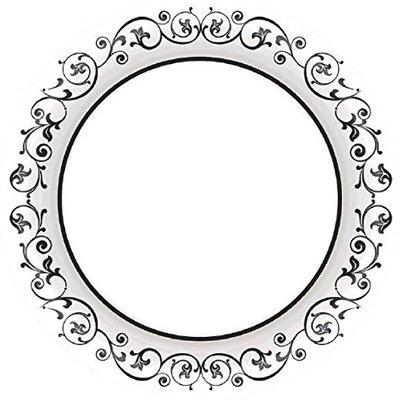 Тарелка Black орнамент 25см 100шт/А 1502-2594