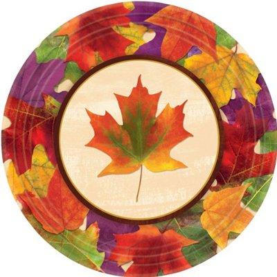 Тарелки большие Кленовый лист, 8 штук 1502-2603