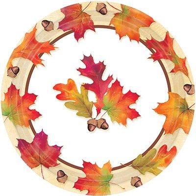 Тарелки большие Осенние листья, 8 штук 1502-2604
