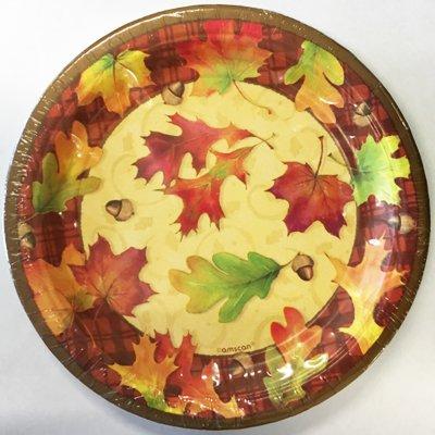 Тарелки средние Осенние листья, 8 штук 1502-2606