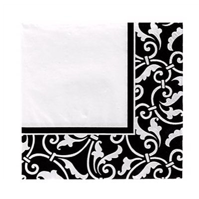 Салфетки Black орнамент, 16 штук 1502-2608