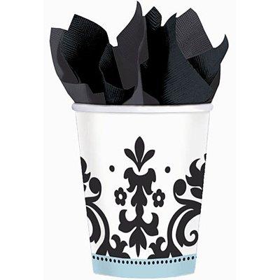 Стаканы черно-белые Дамаск, 8 штук 1502-2615