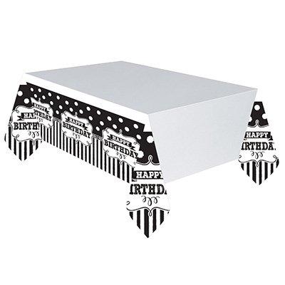 Скатерть п/э HB Black&White горошек