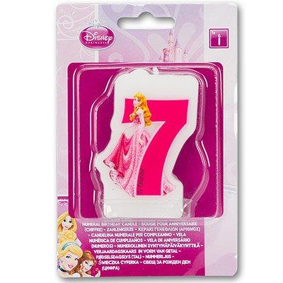 """Свеча-цифра """"7"""" Принцессы, 6 см 1502-2797"""