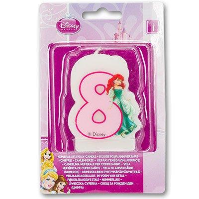 """Свеча-цифра """"8"""" Принцессы, 6 см 1502-2800"""