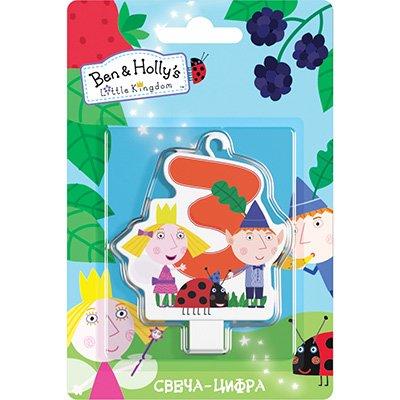 Свеча-цифра 3 Ben&Holly 1502-3024