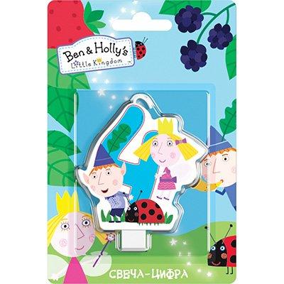 Свеча-цифра 4 Ben&Holly 1502-3025