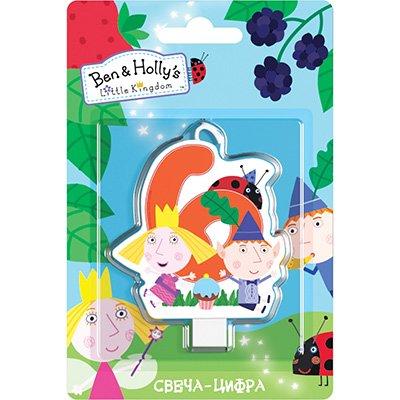 Свеча-цифра 6 Ben&Holly 1502-3027