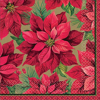 Салфетки Рождественский цветок, 25 см 1502-3097