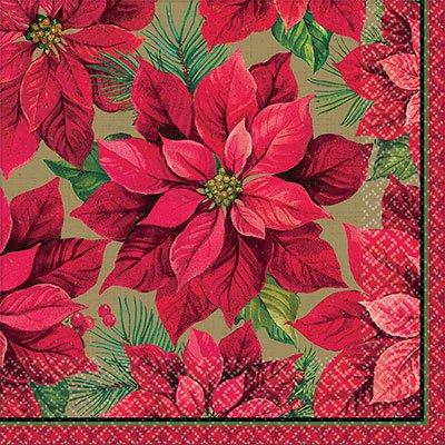 Салфетки Рождественский цветок, 33 см 1502-3126