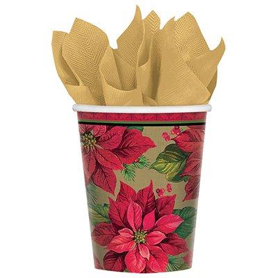 Стаканы Рождественский цветок, 8 штук 1502-3130