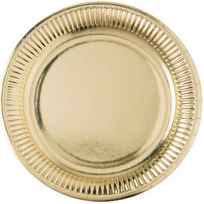 Тарелки большие блеск Gold