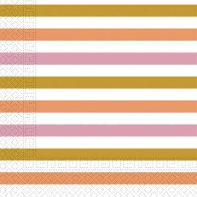 Салфетки Полосы Gold/Rose Gold 1502-3622