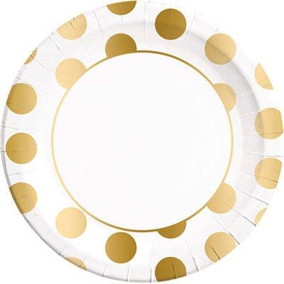 Тарелки большие горошек Gold 1502-3623