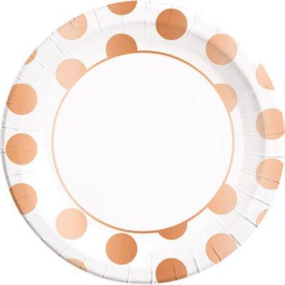 Тарелки большие горошек Copper 1502-3625